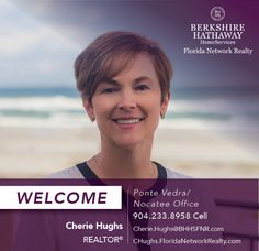 BERKSHIRE HATHAWAY HOMESERVICES FLORIDA NETWORK REALTY WELCOMES CHERIE HUGHS
