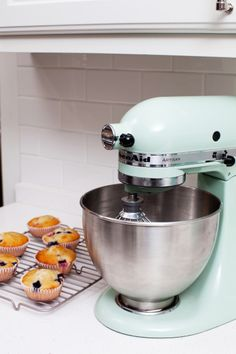registry: ice blue kitchen aid mixer. or in a colour to match