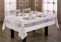 Brisse Masa Örtüsü Takımı - Kırık Beyaz