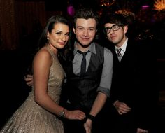 Lea Michele, Chris Colfer, and Kevin McHale