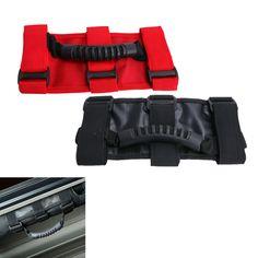 Red / Black Triple Strap Seat Roof Board Racing Roll Bar Grab Handles Handgrip For Jeep Wrangler YJ TJ JK 1987-2016  #CE001