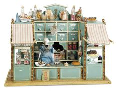 De Kleine Wereld Museum of Lier: 118 German Wooden Candy Shop with Awnings by Gottschalk