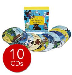 Julia Donaldson Audio Collection - 10 CDs - Buy Online - Discover Exclusive Offers and Fantastic Savings on Thousands of Products at Book People The Gruffalo Song, Charlie Cook's Favourite Book, Julia Donaldson Books, Snail And The Whale, Gruffalo's Child, Imelda Staunton, Room On The Broom, Action Songs, Travel