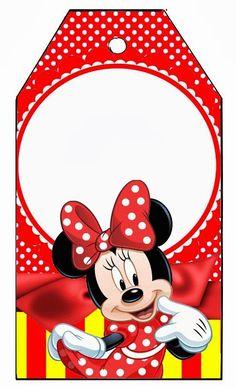 Olá amigas do grupo Fazendo a Própria Festa e visitantes! Temos mais artes lindas da nossa querida amiga Aline Barbosa . Dessa vez ela ... Minnie Mouse Template, Minnie Mouse Stickers, Mickey Mouse Images, Red Minnie Mouse, Minnie Mouse Baby Shower, Minnie Mouse Drawing, Mickey E Minie, Mickey Mouse Decorations, I Love Diy