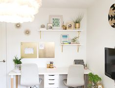 http://www.inspiredbythis.com/business/office-tours/andrea-howes-airy-blush-and-green-home-office/