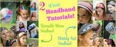 Reversible Woven Headband and Wide Stretchy Knit Headband Sizing for Doll, Toddler, Tween, and Women included!