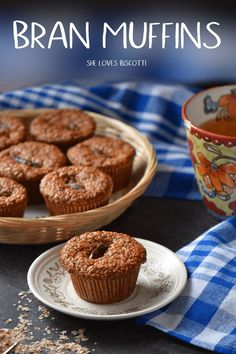These are not your typical healthy bran muffins. Thanks to the recipe's use of natural bran and dates, these bran muffins are moist, naturally sweet, and a good source of fiber. Truly a healthy and tasty start to the day! Healthy Muffin Recipes, Best Breakfast Recipes, Healthy Muffins, Donut Recipes, Healthy Baking, Baking Recipes, Dessert Recipes, Date Recipes Healthy, Desserts