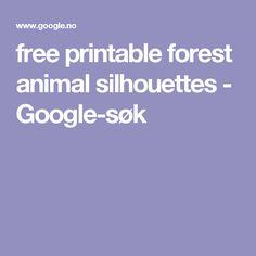 free printable forest animal silhouettes - Google-søk