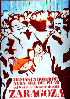 Cartel a concurso del Pilar año 1983 Titulo: Peña