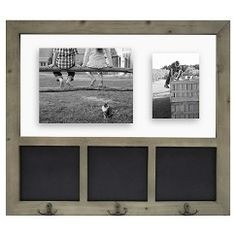 Threshold™ Float Collage Chalkboard and Hooks Grey 18X24