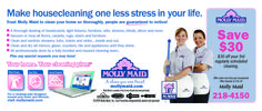 Molly Maid is Rochester's premier cleaning service. Don't stress yourself about spring cleaning these next few weeks, call Molly Maid and let them handle your home cleaning for you!