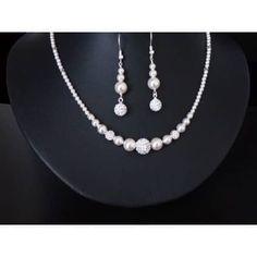 edle Perlenkette Sterling Silber Brautschmuck - Brautschmuck - Zuchtperlen