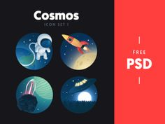 Free Cosmos Icon Set I