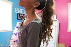 BUT I HAVE TO ASK WHY WOULD YOU CURL YOUR HAIR JUST TO PUT IT UP IN A PONYTAIL LIKE