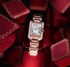 Cartier Tank Anglaise watch a special gift from my fiancé !!