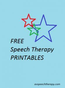 Speech Therapy Resource of Free Printables (autism spectrum, myofunctional/tongue thrust, childhood speech and language, accent modification, ESL)