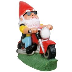 The Best Biker Garden Gnomes Are Here. Get An Unusual Motorcycle Garden  Gnome For A Great Price.
