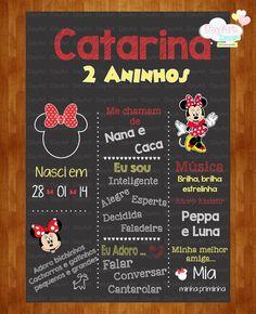 Chalkboard Minnie Vermelha Chalkboard, Mickey Mouse, Party, Invitations, Chalkboards, Parties, Baby Mouse, Chalk Board, Blackboards