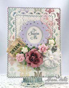 Carte mariage fleurs