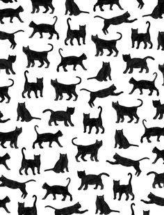cat pattern | Le petits chats Art Print by Marcelo Romero | Society6