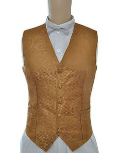 Gold Victorian Deluxe Jacquard Halloween Costume Steampunk Chest Vest