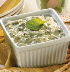 SPINACH, ARTICHOKE & CHEESE - A creamy blend of spinach and artichokes ...