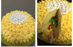 Piñata Cake - Lemon Cake Filled with Skittles