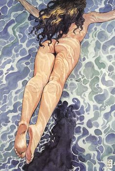 Himinglava, daughter of Ran and Aegir, represents the sun on the water ...Milo Manara..