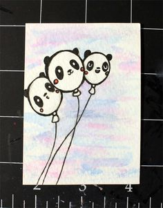 Panduhmonium 31 Days of Inktober - Day 1 Panda Art, 31 Days, Cute Food, Visual Arts, Inktober, Cute Drawings, Sketch, Kawaii, Simple