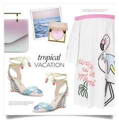 """Tropical Vacation: Bora Bora"" by grrr8style ❤ liked on Polyvore featuring Abcense, Mira Mikati, M2Malletier, Sophia Webster, Leah Flores and Stila"