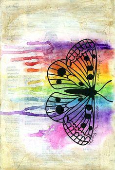 Listen to the Colour art journal page by Jill Wheeler, featuring Scrap FX moth silhouette.  www.scrapfx.com.au