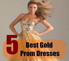 5 Best Gold Prom Dresses