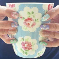 Provence Rose-inspired nails courtesy of Jaxine Khoo | Cath Kidston