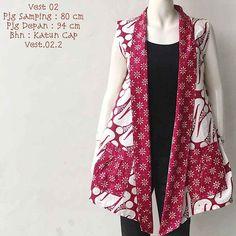 41 Best Ideas For Dress Hijab Outer Batik Blazer, Blouse Batik, Batik Dress, Batik Muslim, Outer Batik, Mode Batik, Short African Dresses, African Blouses, Batik Kebaya