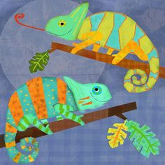 Chameleon Pals - Animals Canvas Wall Art | Oopsy daisy