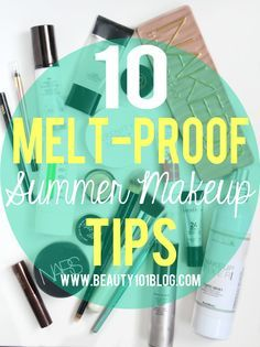 Is hot weather not playing well with your current makeup routine? This post has the best summer makeup tips to make sure you look your best no matter what! .
