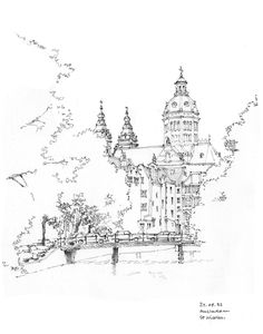 amsterdam, st-nicolas, 82 by gerard michel Perspective Sketch, Building Drawing, Landscape Sketch, Architecture Drawings, Famous Architecture, Urban Sketchers, Sketch Painting, Monochrom, Gravure