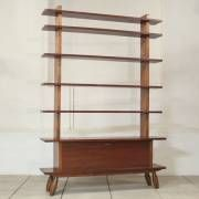 Decorative solid wooden shelving-unit
