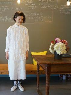 visuna | masumiさんのシャツワンピース「BEAMS BOY ●REBUILD BY NEEDLES / Shirt Dress」を使ったコーディネート