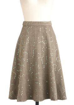 Soiree Among the Stacks Skirt, #ModCloth