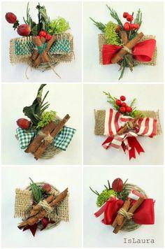 Collage spille per Natale con materiali di riciclo