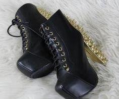 spikey boot heels