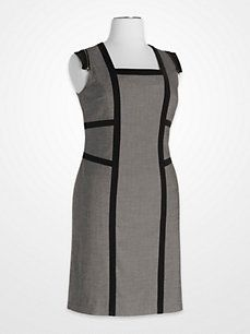Steve Harvey Gray and Black Colorblock Zipper Dress