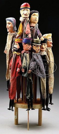 SET OF ELEVEN PUNCH - SET OF ELEVEN PUNCH - SET OF ELEVEN PUNCH AND JUDY HAND PUPPETS. --- #Theaterkompass #Theater #Theatre #Puppen #Marionette #Handpuppen #Stockpuppen #Puppenspieler #Puppenspiel --- #Theaterkompass #Theater #Theatre #Puppen #Marionette #Handpuppen #Stockpuppen #Puppenspieler #Puppenspiel  http://puppet-master.com - THE VENTRILOQUIST ASSISTANT