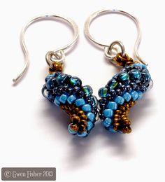 gwenbeads: New Tutorial Slugs in Love Earrings and Pendants