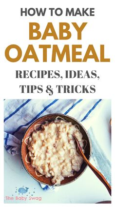 Oatmeal is very nutritious and it's very good for your child. Baby porridge or oatmeal is pretty similar to the one made for adults. The only difference is breast milk or infant formula that's added in this oatmeal version. Oatmeal For Baby, Baby Oatmeal Cereal, Baby Cereal, Cereal Recipes, Oatmeal Recipes, Baby Food Recipes, Lactation Recipes, Lactation Cookies, Baby Breakfast
