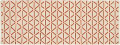 This might be a nice red accent in pale yellow and jade kitchen...Bucato Coral Runner  | Crate and Barrel