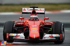 Kimi Räikkönen, Ferrari, Formula 1 test at Circuit de Catalunya 26 februari 2015, Formula 1