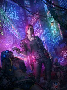 """cyberpunkgame: """"spassundspiele: """"Cyberpunk 2077 fan art by Tek Tan """" Imagining Night City - thanks for sharing this! Cyberpunk 2020, Arte Cyberpunk, Cyberpunk Aesthetic, Cyberpunk Tattoo, Cyberpunk Anime, Cyberpunk Clothes, Bild Tattoos, Futuristic Art, Fan Art"""