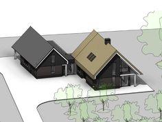 Nieuwbouw vrijstaande woning met bijgebouw Water Storage, Aquaponics, Exterior Design, Home Goods, New Homes, House Design, Villa, Building, Outdoor